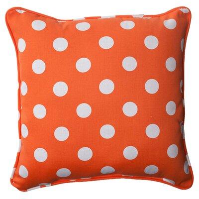 Pillow Perfect Polka Dot Corded Indoor/Outdoor Throw Pillow