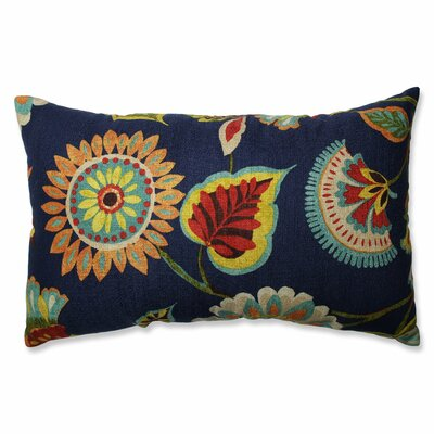 Ailey Prussian Cotton Lumbar Pillow by Pillow Perfect