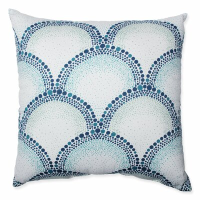 Shelamar Teal Cotton Throw Pillow by Pillow Perfect