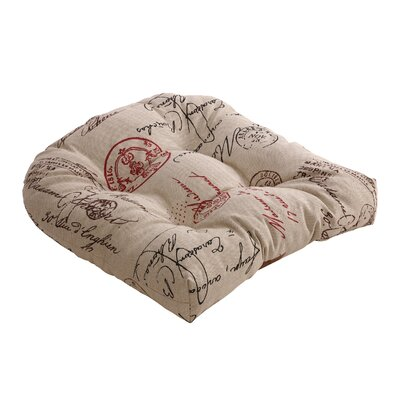 Pillow Perfect French Outdoor Chair Cushion