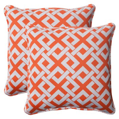 Pillow Perfect Boxin Corded Indoor/Outdoor Throw Pillow