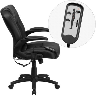 Flash Furniture Mid-Back Mesh Executive Swivel Chair with Arms