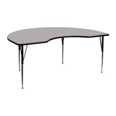 "Flash Furniture 72"" x 48"" Kidney Classroom Table"