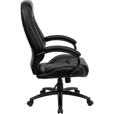Flash Furniture High-Back Leather Executive Chair with Dense Padding
