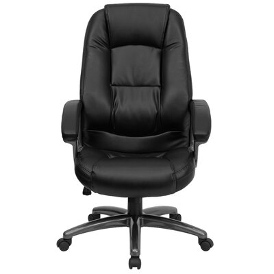 Flash Furniture High-Back Leather Executive Chair with Metal Base