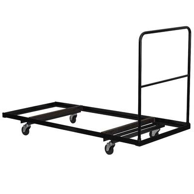Flash Furniture Steel Folding Rectangular Folding Table Dolly