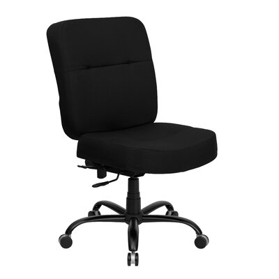 Flash Furniture Height Adjustable Hercules Series Big and Tall Fabric Leather Office Chair with Extra Wide Seat