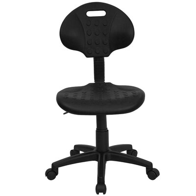 Flash Furniture Mid-Back Tuff Butt Soft Polypropylene Utility Task Chair