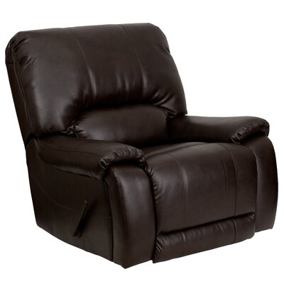 Flash Furniture Overstuffed Leather Chaise Recliner