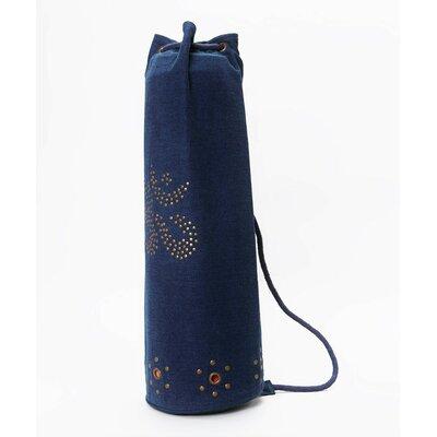 OMSutra Mahashakti Denim Yoga Bag in Navy Blue