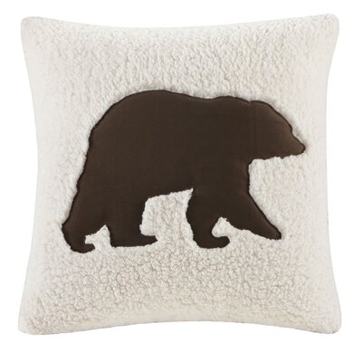 Hadley Berber Leather/Suede Throw Pillow by Woolrich