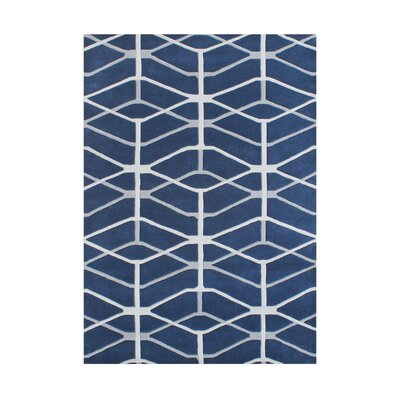 Aminah Hand-Tufted Moonlight Blue Area Rug by Wildon Home ®