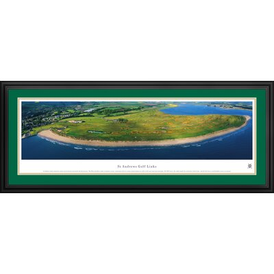 Blakeway Worldwide Panoramas, Inc St Andrews Links Deluxe Framed Photographic Print