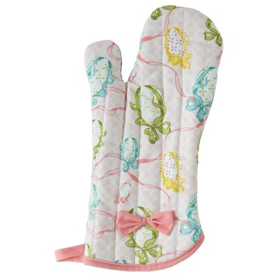 Easter Egg Ribbon Oven Mitt with Bow by Jessie Steele