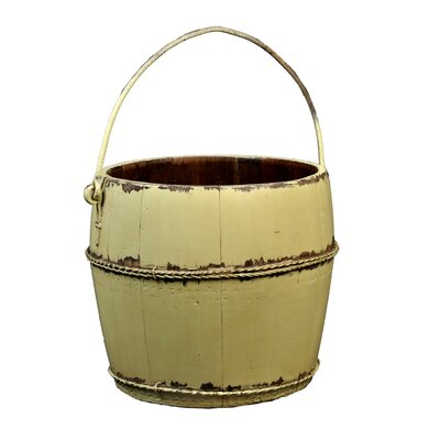 Vintage Round Kitchen Bucket with Iron Handle by Antique Revival