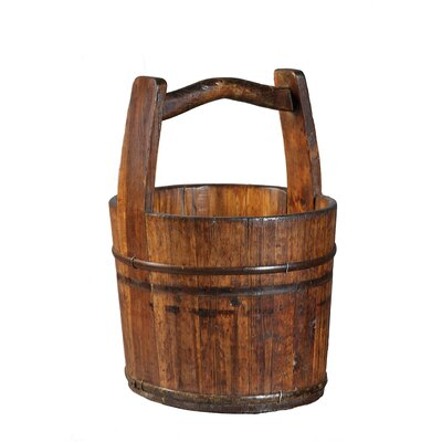 Vintage Water Bucket with Crested Handle by Antique Revival
