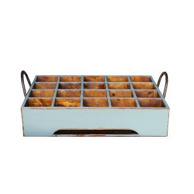 Antique Revival Distressed Rectangular Milk Crate with Iron Handles