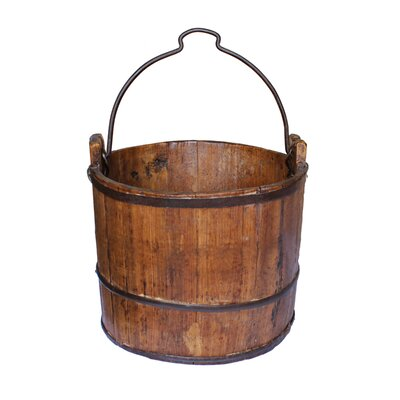 Vintage Iron Handle Water Bucket by Antique Revival