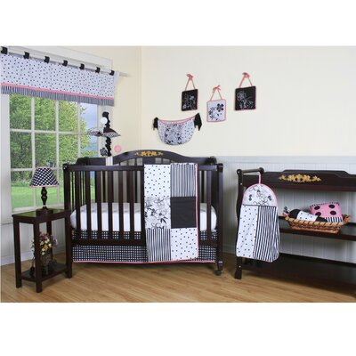 Boutique Flower and Dot 13 Piece Crib Bedding Set by Geenny