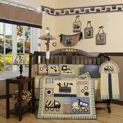 Boutique Baby Constructor 13 Piece Crib Bedding Set by Geenny