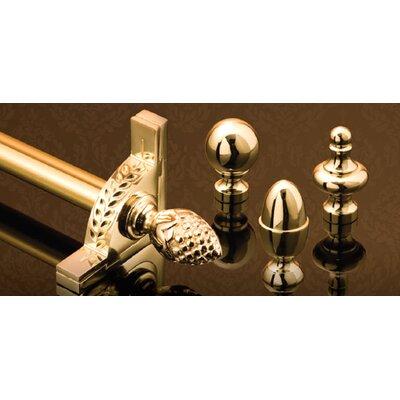 "Zoroufy Stair Jewel 36"" Fluted Tubular Stair Rod Set with Decorative Brackets Acorn Finials"