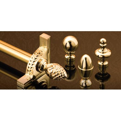 "Zoroufy Stair Jewel 36"" Roped Tubular Stair Rod Set with Decorative Brackets Ball Finials"