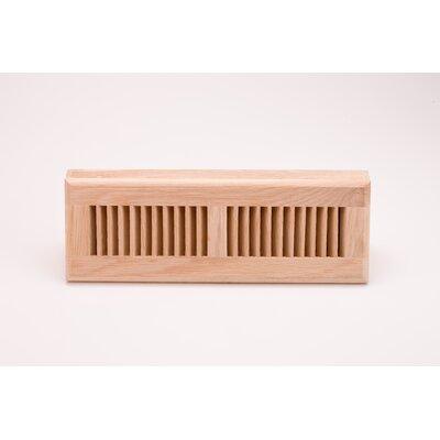 "Zoroufy 3.63"" x 13.75"" White Oak Wood Surface Mount Floor Register"