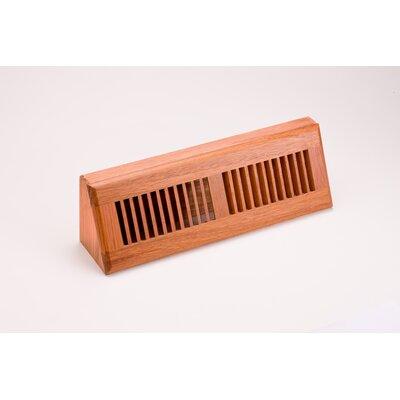 "Zoroufy 4.5"" x 15.13"" Brazilian Cherry Wood Baseboard Diffuser"
