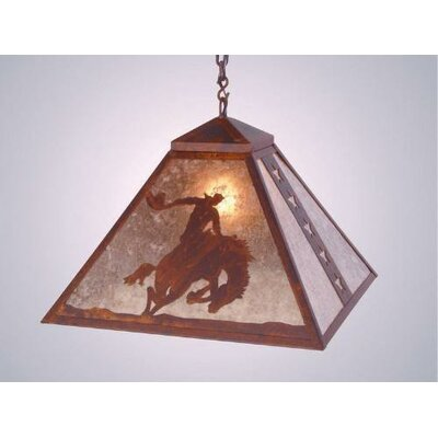 8 Seconds 1 Light Swag Pendant by Steel Partners