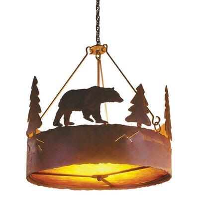 Bear 3 Light Pendant by Steel Partners