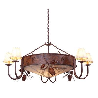Ponderosa Pine 3 Light Chandelier by Steel Partners
