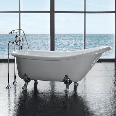 "Clawfoot 66' x 28"" Acrylic Slipper Tub Product Photo"