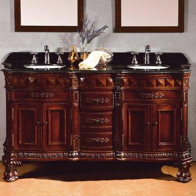 """Geneva 60"""" Double Bathroom Vanity Set Product Photo"""