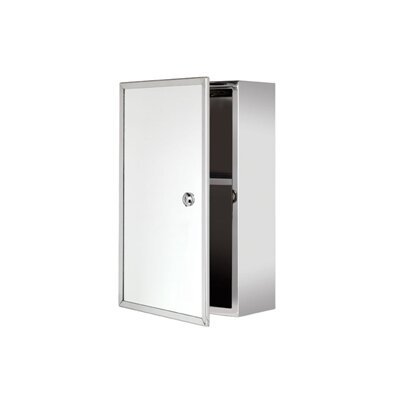 "Trent Lockable 9.84"" x 15.75"" Surface Mount Medicine Cabinet Product Photo"