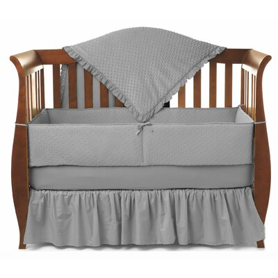 Heavenly Soft Minky Dot Chenille 4 Piece Crib Bedding Set by American Baby Company
