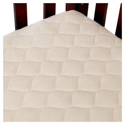 Organic Quilted Portable Fitted Crib Mattress Pad by American Baby Company