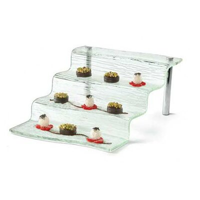 Tablecraft Cristal 4 Step Appetizer Waterfall Tiered Stand