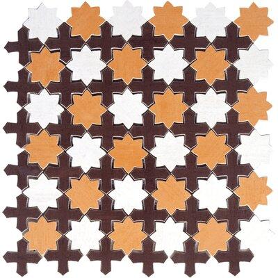 Interceramic Aquarelle Random Sized Ceramic Mosaic Tile in Star Red