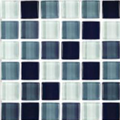 "Interceramic Shimmer Blends 2"" x 2"" Ceramic Mosaic Tile in Shadow"