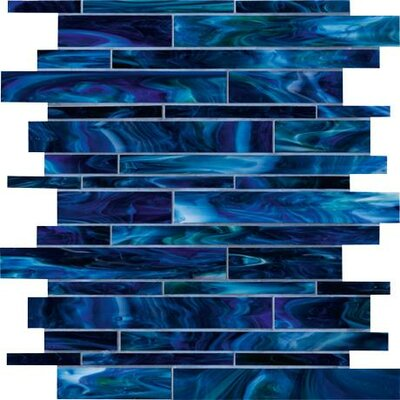 Catwalk Random Sized Glass Mosaic Tile in Blue Ballet Product Photo
