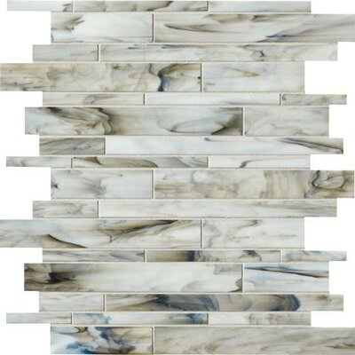 Catwalk Random Sized Porcelain Mosaic Tile in Smokey Stiletto Product Photo