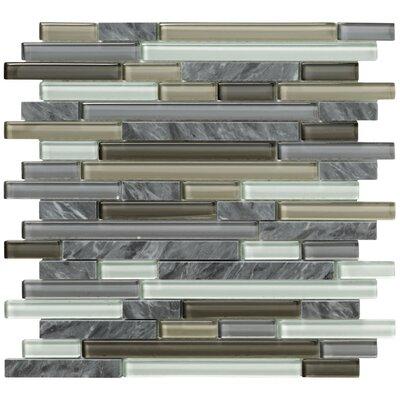 Crystal Stone II Random Sized Glass Mosaic Tile in Pewter by Marazzi