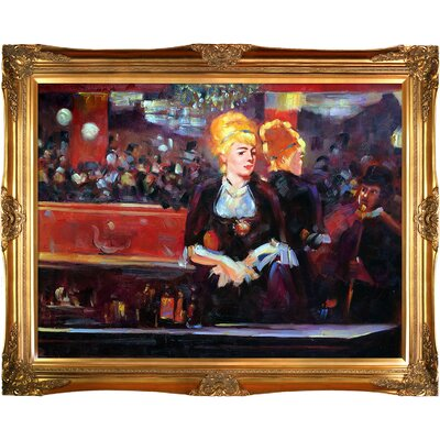 Study for a Bar at the Folies Bergere by Edouard Manet Framed Painting Print on ...