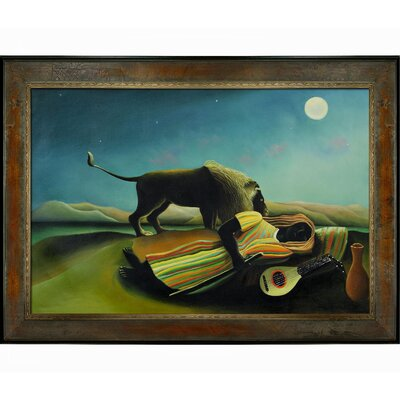 Rousseau The Sleeping Gypsy Canvas Art by Tori Home