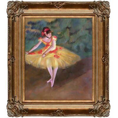 Dancer Making Points by Degas Framed Hand Painted Oil on Canvas by Tori Home