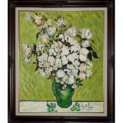 Tori Home Van Gogh Vase with Roses Canvas Art