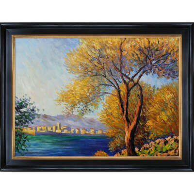 Tori Home Monet Antibes, View of Salis Canvas Art