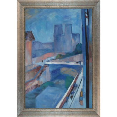 Glimpse of Notre Dame Matisse Framed Original Painting by Tori Home