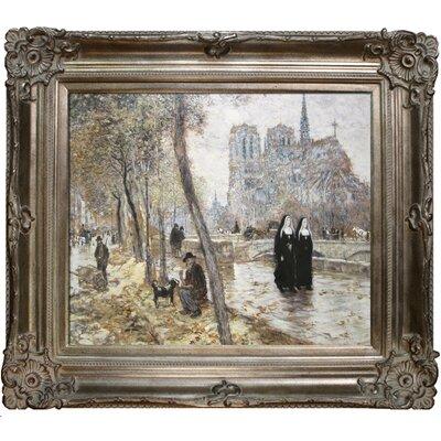 Notre-Dame de Paris Raffaelli Framed Original Painting by Tori Home