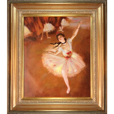 Star Dancer (On Stage) by Degas Framed Hand Painted Oil on Canvas by Tori Home ...